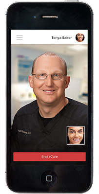 iphone-only-ecare-screen-dr-fineberg-w-patient